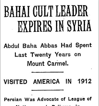 New York Times - December 1,1921